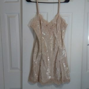 Victorias Secret Beige Gold Label Nightgown